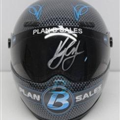2015 Autograph  PlanB Mini Helmet / Kyle Larson 1/4  Wall