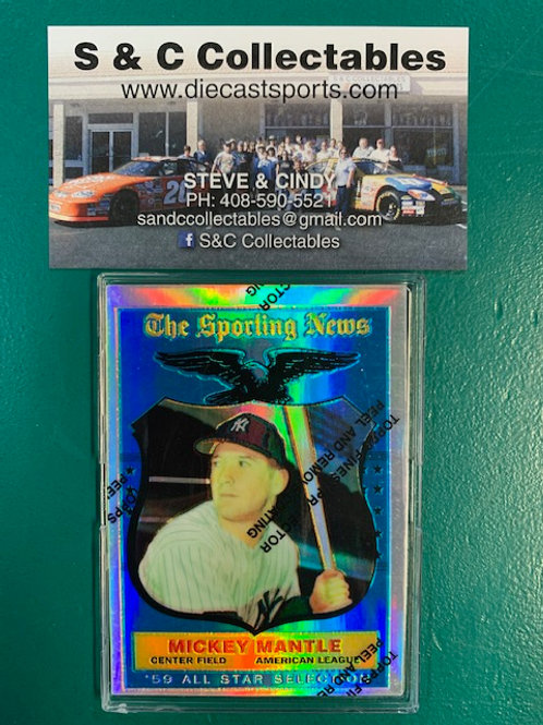1997 Topps Finest The Sporting News Refractor Mickey Mantle / Baseball Box# B1
