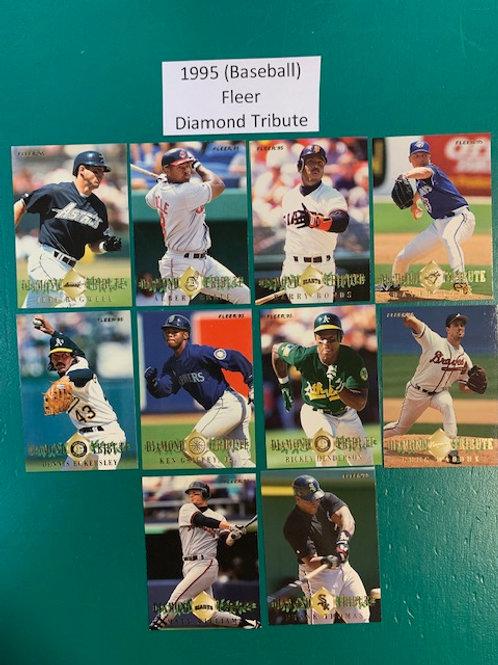 1995 Fleer Diamond Tribute 10 Card Set  / Baseball  Box# B1