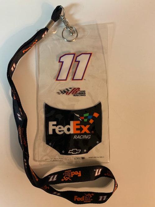 2006 FedEx Racing Credential Holder w/Lanyard / Denny Hamlin  Box# 100