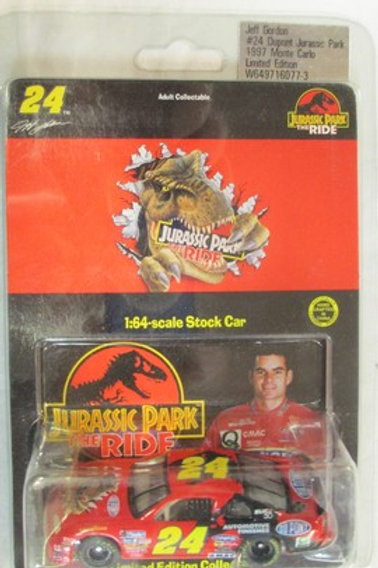1997   DuPont -Jurassic Park the Ride / Jeff Gordon 1:64  Peg