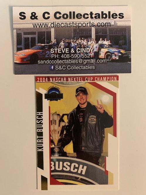 2005 Press Pass 2004 Nextel Cup Champion / Kurt Busch  Box# FF