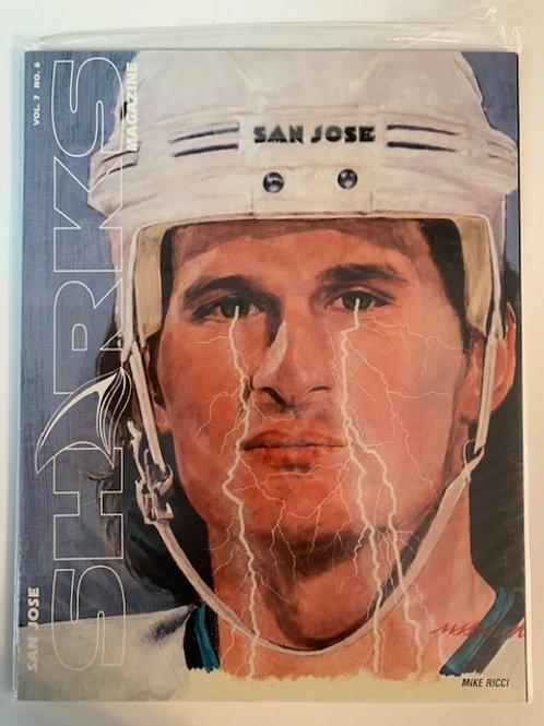 1997 San Jose Sharks Magazine Vol.7  No. 6 / Mike Ricci