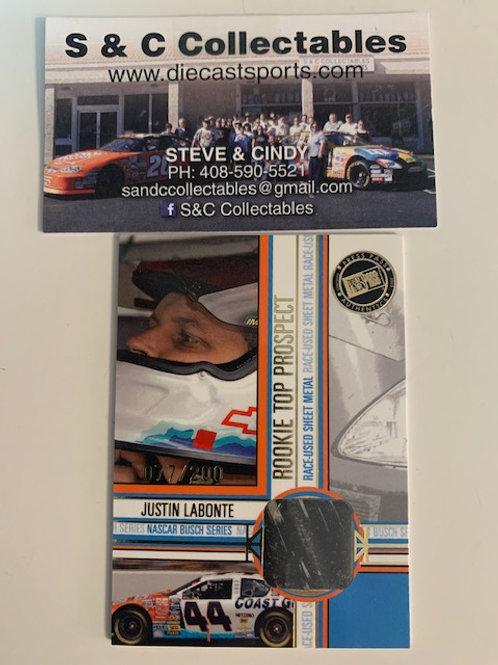 2005 Press Pass Authentics Race-Used Sheet Metal  / Justin Labonte  Box# AA