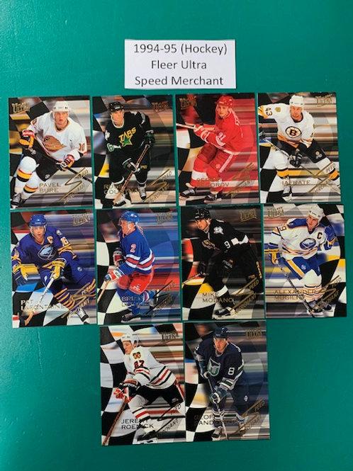 1994-95 Fleer Ultra (Speed Merchant) 10 Card Set (Hockey)  Box# CC