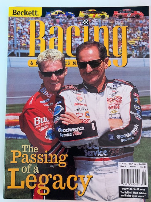 2001 Beckett Card Monthly Issue# 81 / Dale Earnhardt Sr & Dale Jr