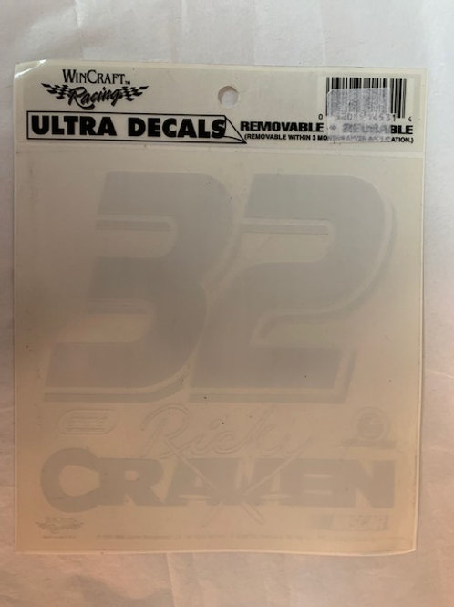 2003 Ultra Removable-Reusable Decal / Ricky Craven  Decal# 1