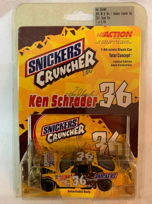 #36 M&M's - Snickers Cruncher (Open Hood) / Ken Schrader 1:64 Box#13