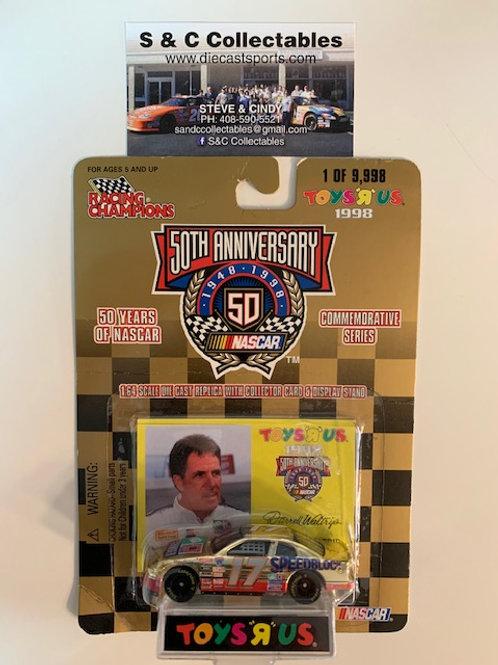 1998 Hechinger Speedblock Toy's R Us Gold Car / Darrell Waltrip 1:64  Box# 42