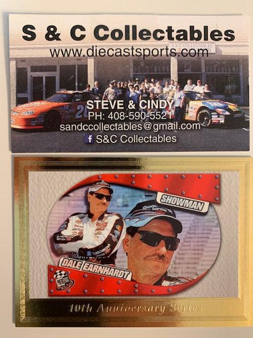 "2003 Press Pass """"10th Anniversary Series"" (Gold)  / Dale Earnhardt Sr.  Box# FF"