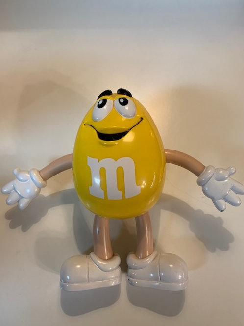 M&M Yellow Figurines (Has some little Blemishes on Back)  / M&M Stuff Box# 97