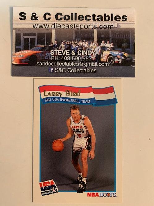 1991 NBA Hoops Larry Bird USA Card# 52  / Basketball-BK1