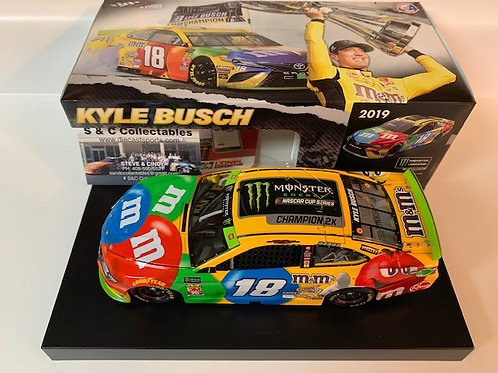 2019 M&M's Monster Energy 2X Champion / Kyle Busch 1:24 Shelf #1