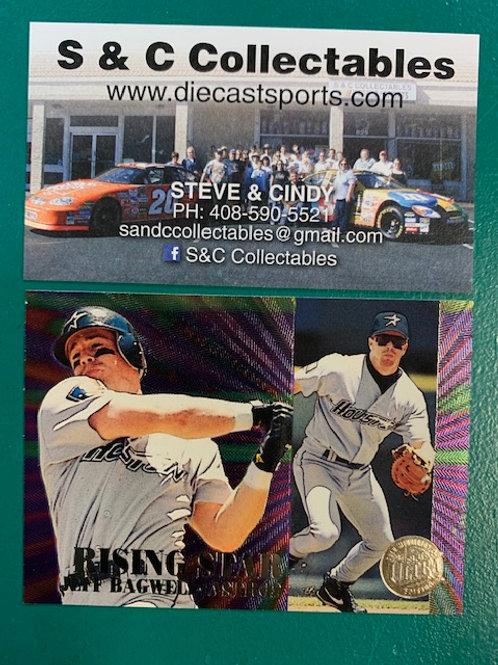 1995 Fleer Ultra  Rising Star Holographic Foil Jeff Bagwell  / Baseball Box# B1