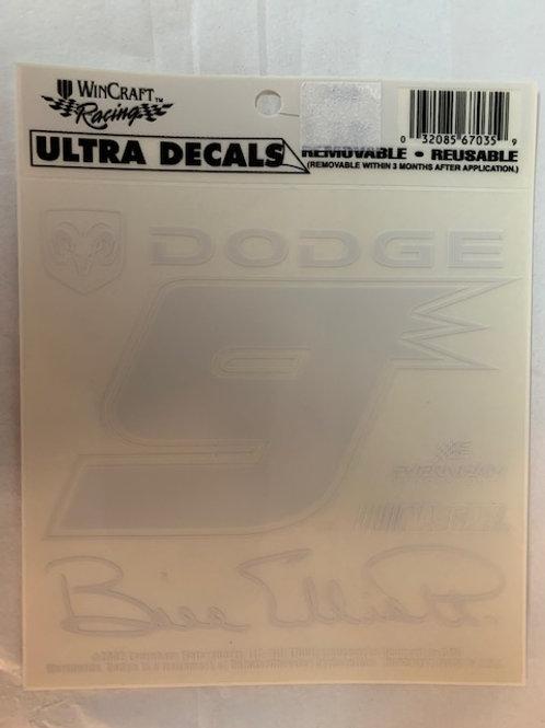2002 Ultra Removable-Reusable Decal / Bill Elliott   Decal# 1
