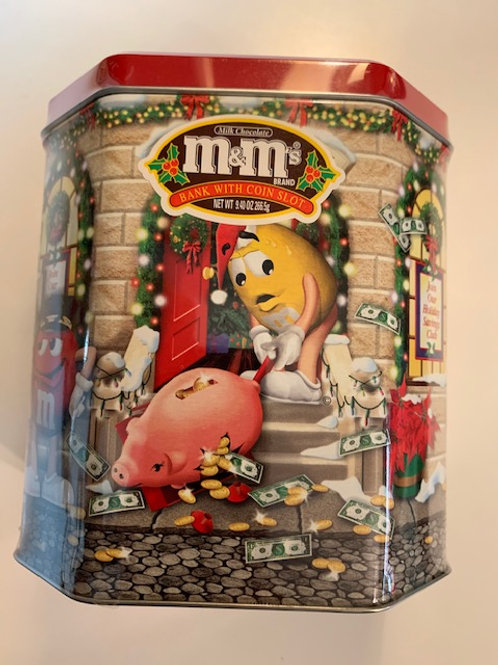2003 M&M Armored Truck Christmas Village (Never Opened) / M&M Stuff Tin#17