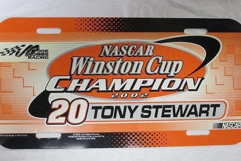 2002 License Plate / Tony Stewart Box# 95