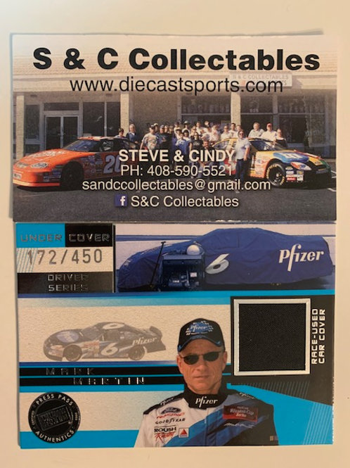 2002 Race-Used Car Cover / Mark Martin Cards