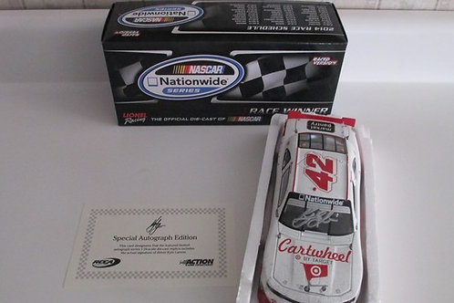 2014 Autographed Cartwheel by Target Win (Rookie Car) / Kyle Larson 1:24 Wall