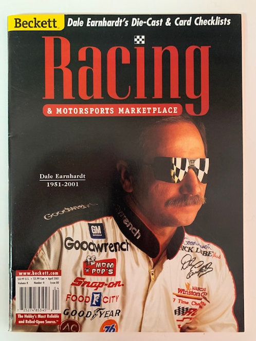 2001 Beckett Card Monthly Issue# 80 / Dale Earnhardt Sr