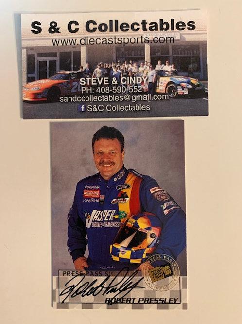 1998 Autographed Press Pass Signings / Robert Pressley  Box# EE