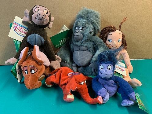 Disney Beanies Tarzan 6 Beanies Set