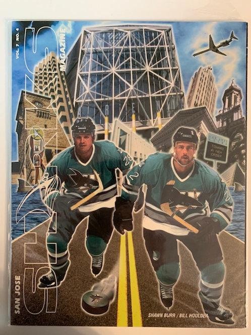 1997 San Jose Sharks Magazine Vol.7  No. 4 / Shawn Burr - Bill Houlder