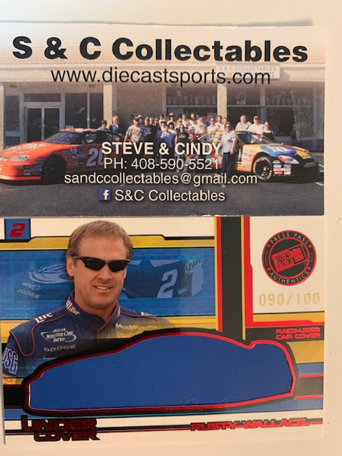 2004 Race-Used Car Cover  Red / Rusty Wallace  Cards