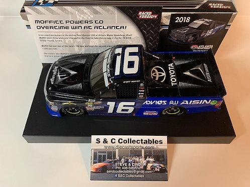 2018 Aisin Group Atlanta Raced Win Truck / Brett Moffitt 1:24 Wall