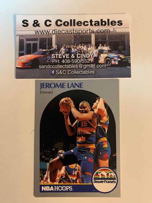 1990-91 NBA Hoops Jermone Lane Forward Card# 96 / Basketball-BK1