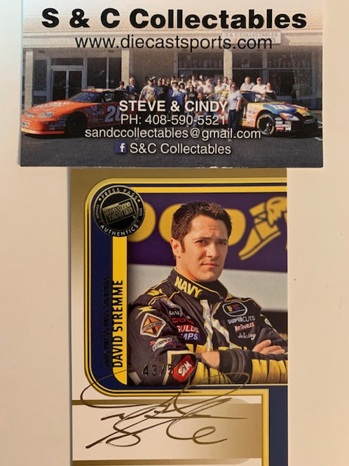 2005 Autographed Press Pass Gold Signings / David Stremme Cards