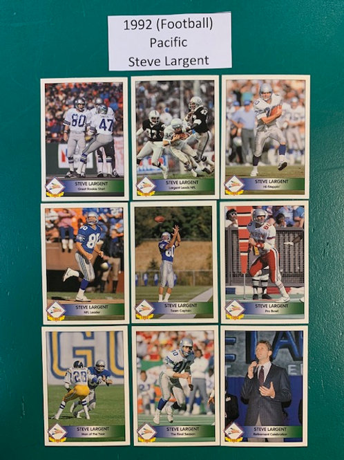 1992 Pacific Legends of the Time Steve Largent 9 Card Set  / Football Box# F1