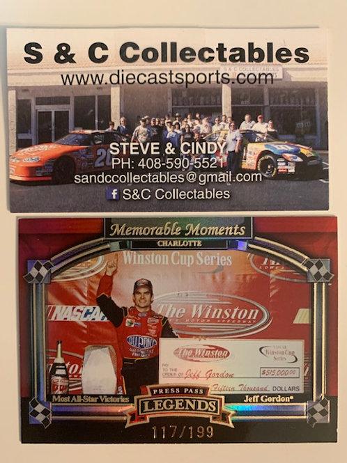 2006 Legends  Memorable Moments Charlotte #117 / Jeff Gordon  Box# FF