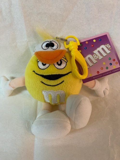 2004 M&M Screaming Yellow Duck Key Chain  / M&M Stuff Box#1