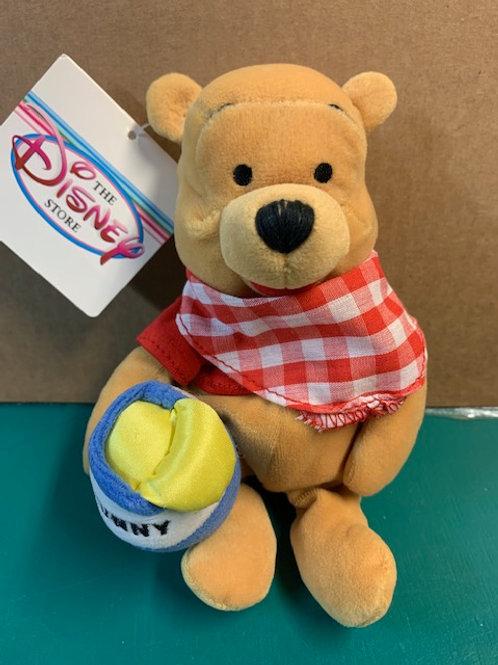 "Disney Beanies Winnie the Pooh Picnic  with Hunny Jar  8"""