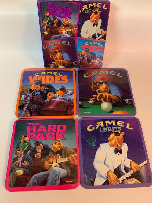 1992 Camel Cigarettes Coasters Complete Boxed Set of 4 Joe Camel