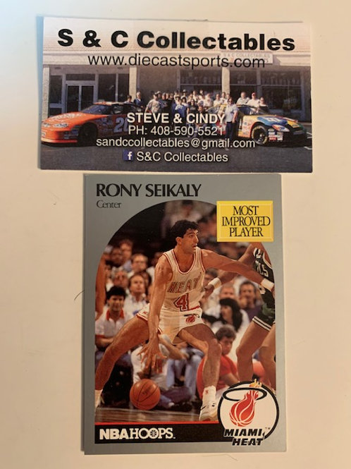 1990-91 NBA Hoops Rony Seikaly Center  Card# 169  / Basketball--BK1
