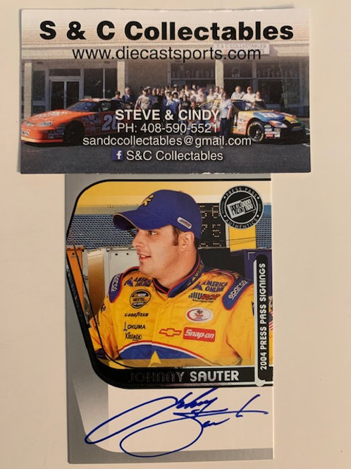 2004 Autographed Press Pass Signings/ Johnny Sauter Cards