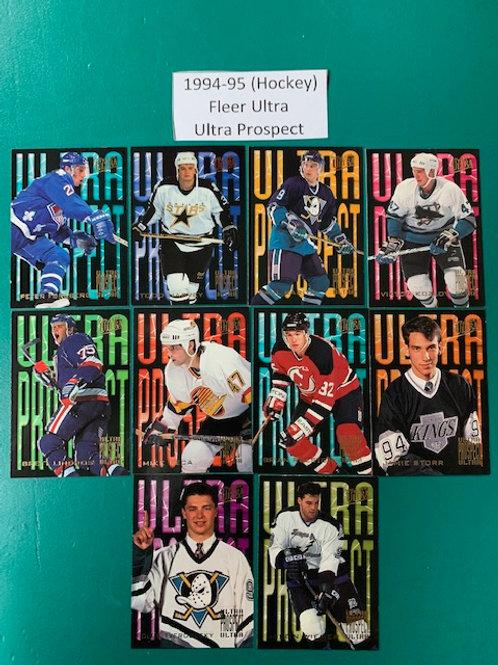 1994-95 Fleer Ultra (Prospect) 10  Card Set (Hockey) Box# CC