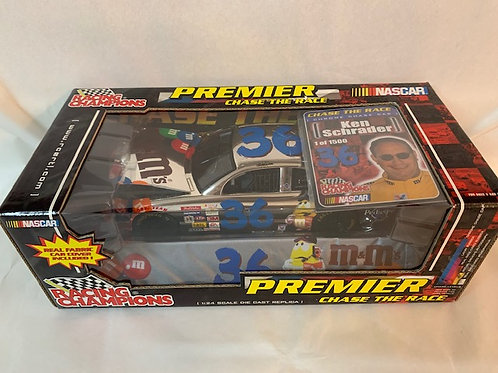 2001 M&Ms  Chrome Chase Car / Ken Schrader  1:24 Shelf