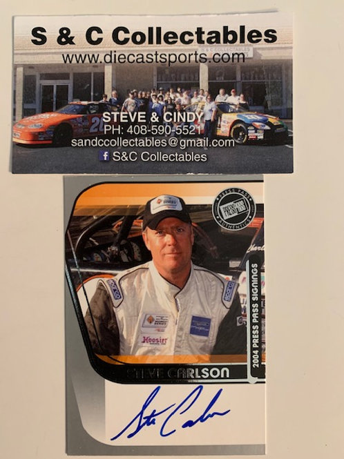 2004 Autographed Press Pass Signings / Steve Carlson Box# AA