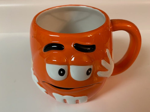 2002 M&M Ceramic Orange (Crispy)  Coffee Mug / M&M Stuff Glass#10
