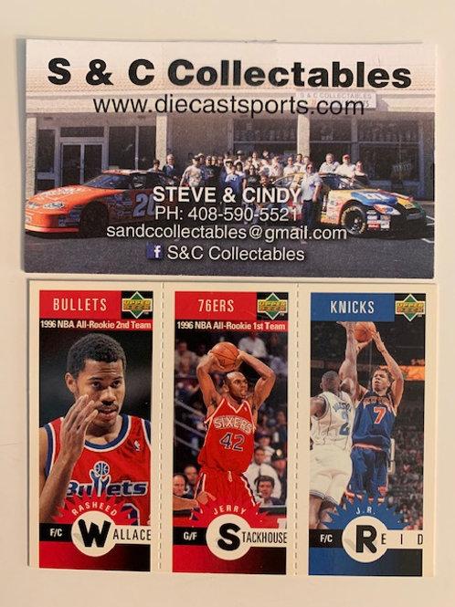 1996-97 Upper Deck M57 Wallace, M61 Stackhouse, M89 Reid / Basketball--BK1