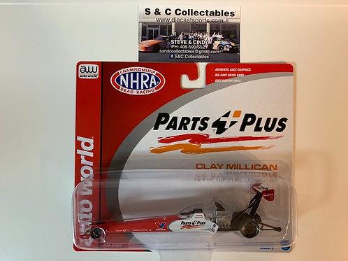 2019 Parts Plus Valvoline  Top Fuel Dragster / Clay Millican 1:64