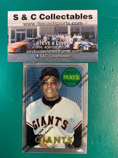 1996 Topps Finest Willie Mays Refractor Card / Baseball Box# B1