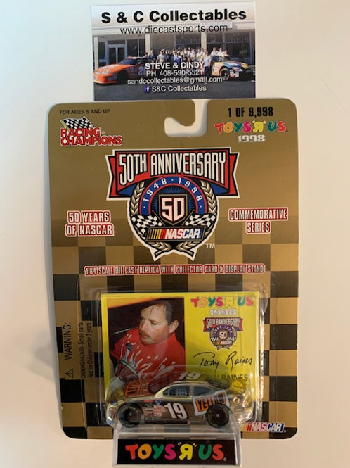 1998 Yellow Freight Toy's R Us Gold Car / Tony Raines 1:64  Box# 42