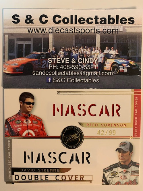 2007 Race-Used Double Car Cover / Reed Sorenson David Stremme Cards