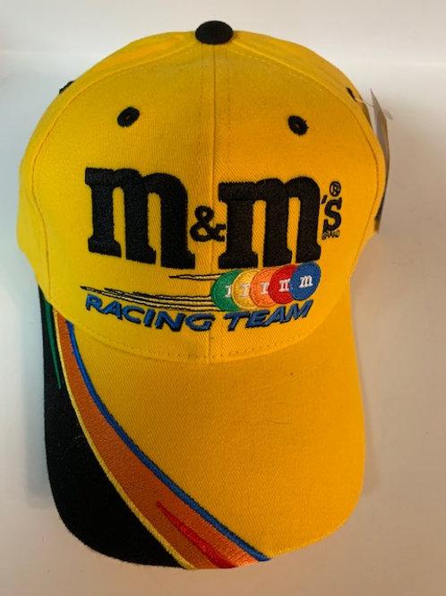 2002 M&M Yellow Racing Team Hat  (NEW)  / Ken Schrader  Hat#5