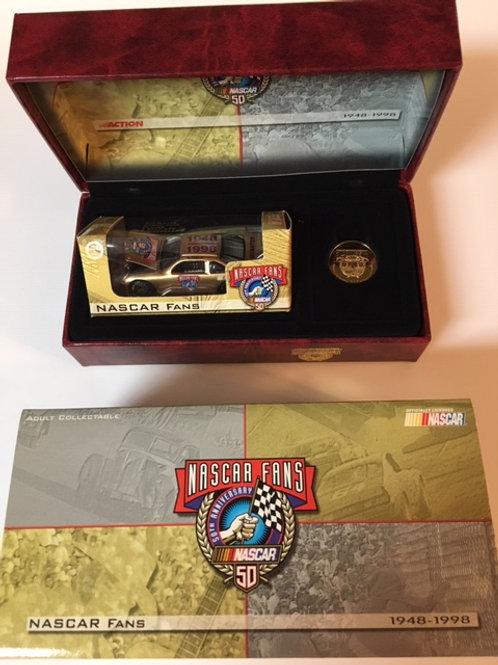 1998 Nascar Fans 50th Anni Car With Coin 1948-1998  / Event Car 1:64 Shelf