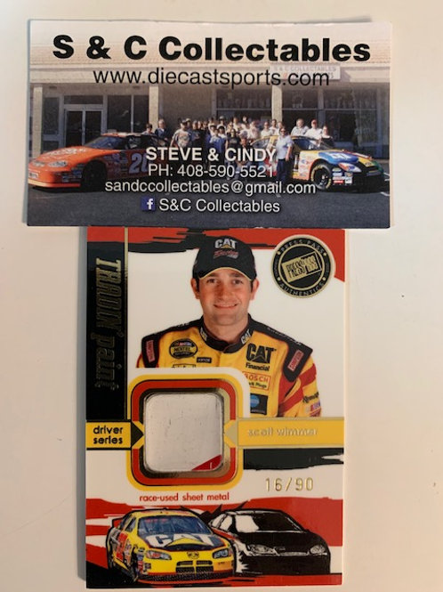 2005 Raced-Used Piece of Sheet Metal / Scott Wimmer Cards